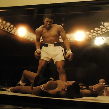 "Best sports photo of the 20th century,  I think! and it lights up!  ""What is my name?"" Ali says to Sonny Liston - Posters and Prints"
