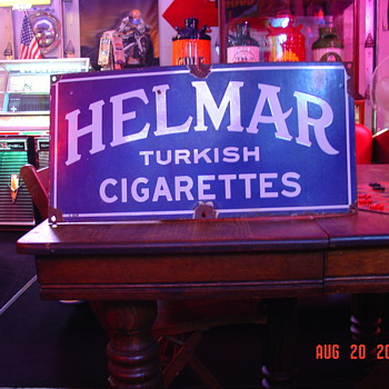 Helmar Turkish Cigaretts Porcelain Sign...Two Colors