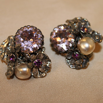 Miriam Haskell Earrings - Costume Jewelry