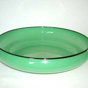 Czech Art Deco Tango Glass Bowl