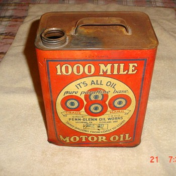1,000 Mile Motor Oil - Petroliana