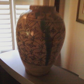 Salt Glaze Vase - Art Pottery
