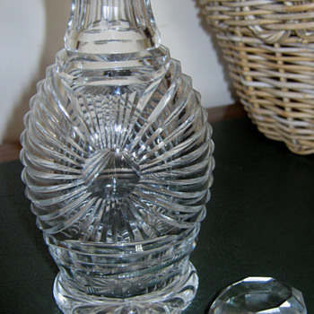 OLD? crystal DECANTER? - Glassware