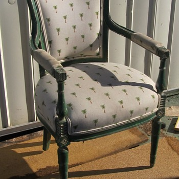 Mid Century Green Wood Chairs  - Furniture