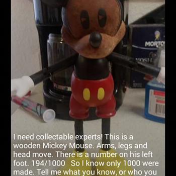 Mickey Mouse 194/1000 Anyone have information? - Dolls
