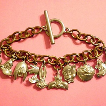 Looney Tunes Cartoon Character Bracelet - Costume Jewelry