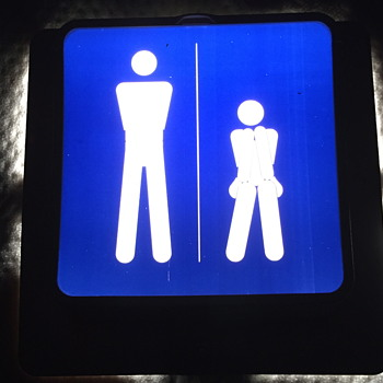 1980 light up bathroom sign. - Signs