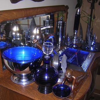 cobalt and chrome deco - Art Deco