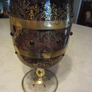 Huge Goblet  Amemthyst Glass