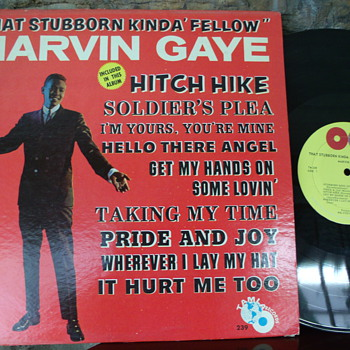 "Rare 1st ed. Mono Marvin Gaye ""That Stubborn Kinda' Fellow"" LP - Records"