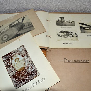 Private WWI photo album. - Military and Wartime