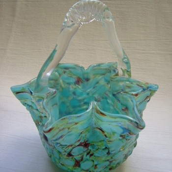 Bohemian/Czech Welz Baskets. - Art Glass