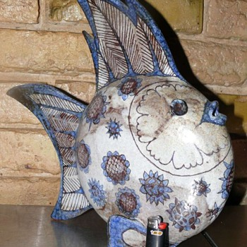 Rudolf Knoerlein fish - Art Pottery