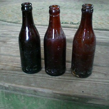Old Nashville Amber Coke bottles