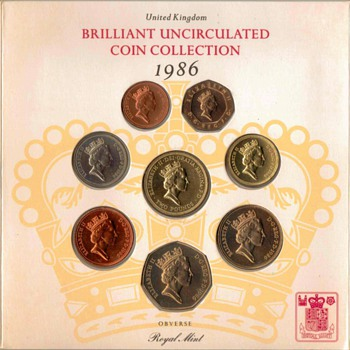 1986 - United Kingdom Mint Coin Set