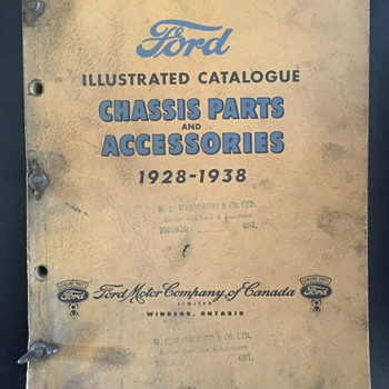 Ford illustrated catalogue chassis parts and accessories 1928-1938.