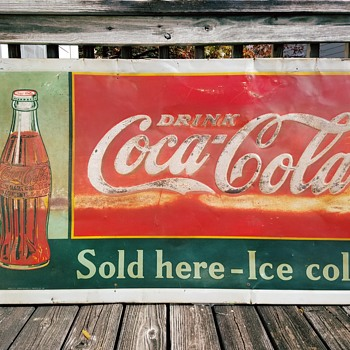 1937 Drink Coca-Cola Sign