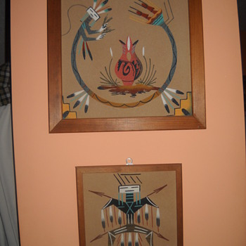 Navajo sand paintings - Native American