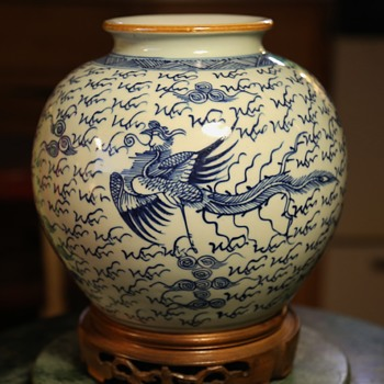 Chinese Vase with Headless Phoenix's