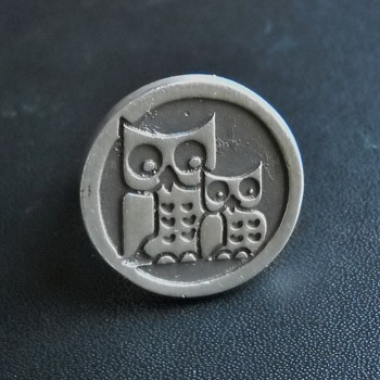  VINTAGE  GEORG JENSEN  OWL RING &amp; PENDANT