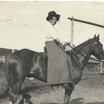 "One of my Aunt, horse riding""1910"""