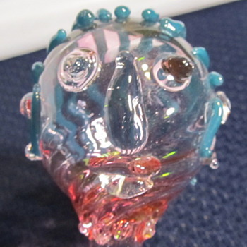 Glass Figurine Head, stirer - Art Glass