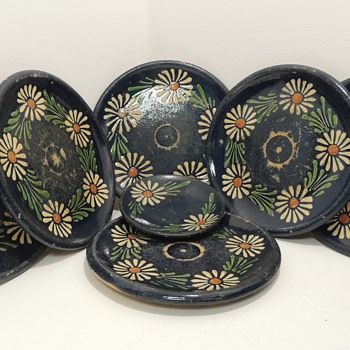 Set of 7 Terracotta? Redware? Plates - Kitchen