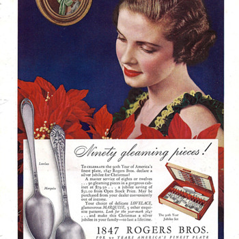1847 Rogers Bros Silverplate Flatware in the 1936 LOVELACE Pattern