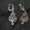 835 Silver and Garnet Vintage Earrings