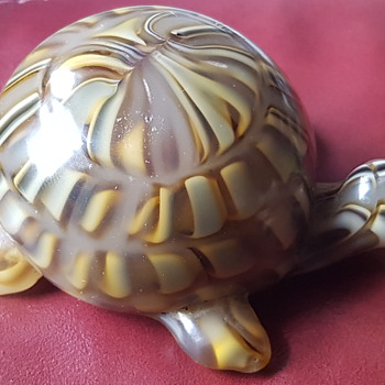 Unusual Tortoise glass paperweight - Art Glass