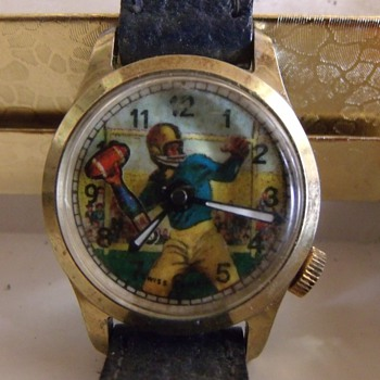 Animated Football Player Wrist Watch - Wristwatches