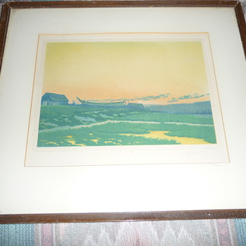 Charles Louis Houdard French 1908 Print 47/50 signed