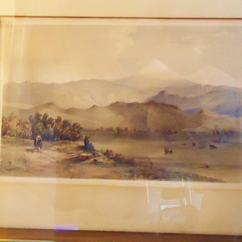 Eng. print 1846 Orizaba Mex. Day & Son Litho to the Queen Volcano by Veracruz - Posters and Prints