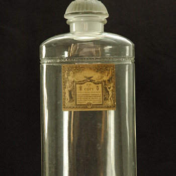 large perfume bottle BACCARAT & LALIQUE for COTY