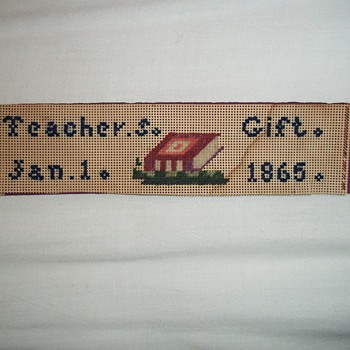 Needlework bookmark 1865