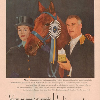 1954 Parliaments Cigarette Advertisement - Advertising