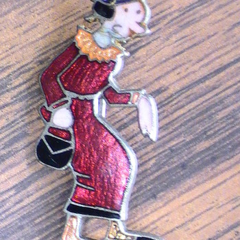 Mom's Olive Oyl pin.