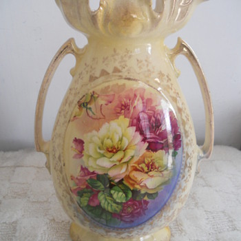 Mantel Clock and Vase