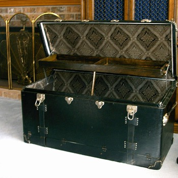 antique car trunk - Furniture