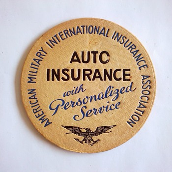 Military Insurance Coaster - Breweriana