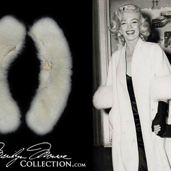 Marilyn Monroe&#039;s Personal White Fox Fur Cuffs - Womens Clothing