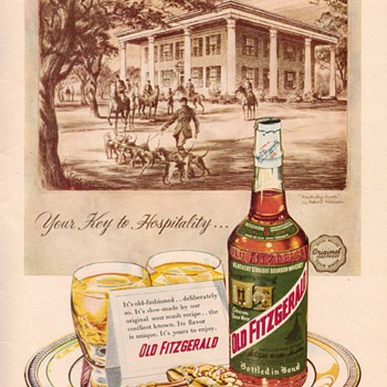 1955 Old Fitzgerald Advertisement - Advertising