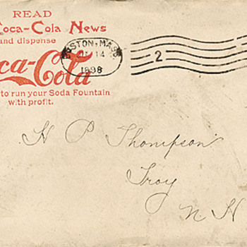 Now I need to find an envelope for my 1896 Coca-Cola Newsletter - Coca-Cola