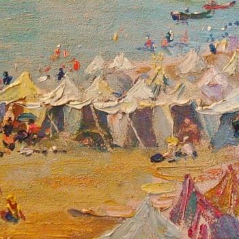 Painting by Jacques Ourtal of Saint- Jean- de- Luz - Visual Art