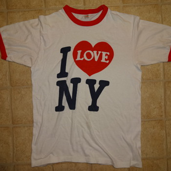 Possibly Original 1970's I LOVE NY T-shirt Ringer-style anyone have any info on this dude
