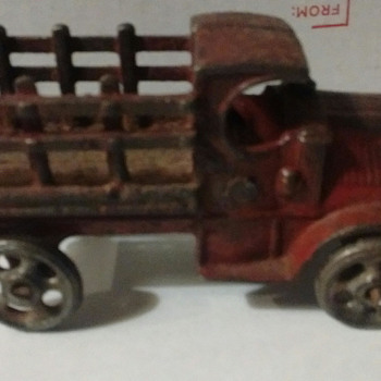 Cast iron A.C Williams Stake Bed Truck