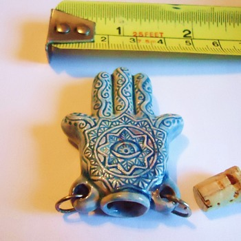 Hamsa Hand Amulet, from Goodwill  Stop The Evil Eye!!