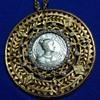 """Nettie Rosenstein """"Marie Louise"""" medallion brooch"""