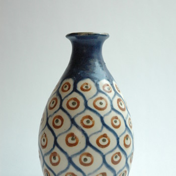 "french art decopottery vase ""ANANAS"" byLéon Elchinger (1871-1942)"