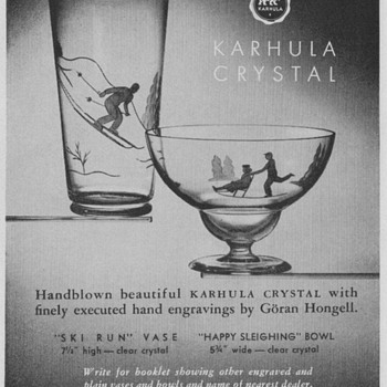 1950 Imported Glass Advertisements - Assorted - Advertising
